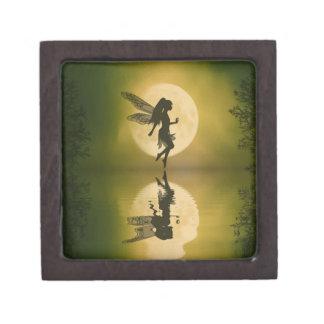 La hada refleja la caja del recuerdo de la baratij caja de recuerdo de calidad