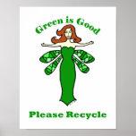 La hada verde recicla el poster