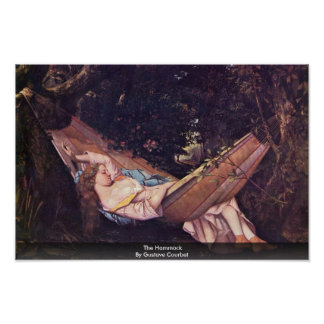 La hamaca de Gustave Courbet Posters
