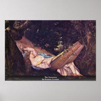 La hamaca de Gustave Courbet Póster