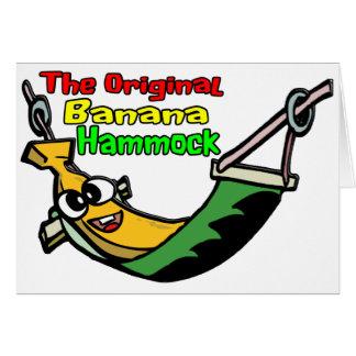 La hamaca original del plátano felicitación