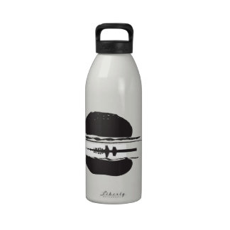 La hamburguesa botella de agua reutilizable