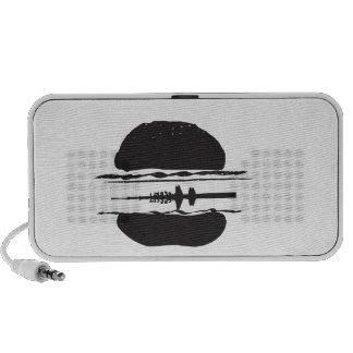 La hamburguesa altavoces de viajar