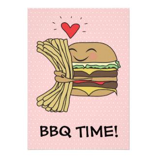 La hamburguesa ama el Bbq de las fritadas