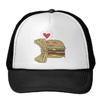 La hamburguesa ama las fritadas gorra