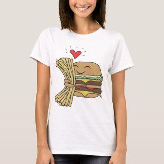 La hamburguesa ama las fritadas playera
