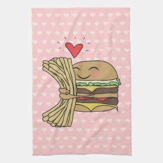 La hamburguesa ama las fritadas toalla de cocina