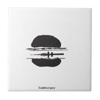 La hamburguesa azulejo