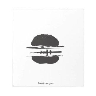 La hamburguesa libreta para notas