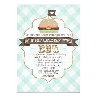 La hamburguesa de la aguamarina junta invitaciones invitación 12,7 x 17,8 cm