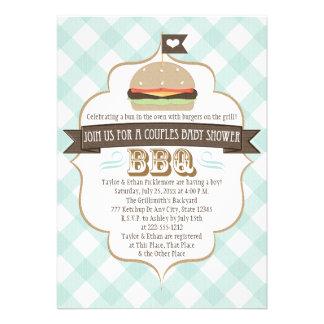 La hamburguesa de la aguamarina junta invitaciones