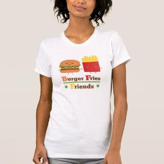 La hamburguesa del dibujo animado de Kawaii fríe a Playera