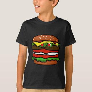 La hamburguesa divertida embroma la camiseta