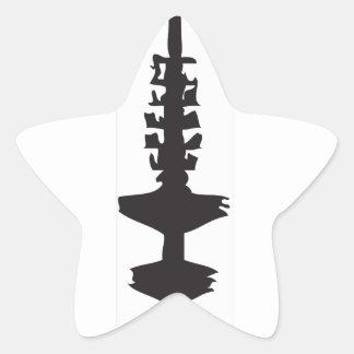 La hamburguesa Fernsehturm Pegatina En Forma De Estrella