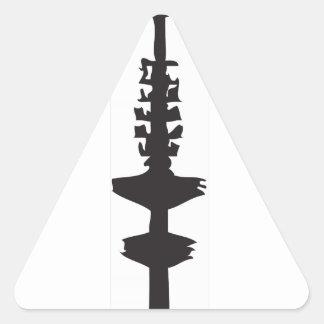 La hamburguesa Fernsehturm Pegatina Triangular