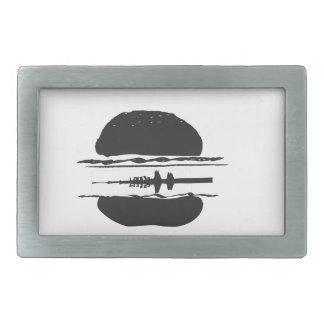 La hamburguesa hebillas cinturón rectangulares