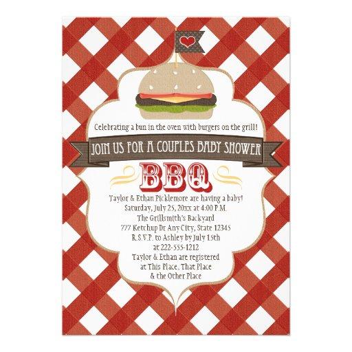 La hamburguesa junta invitaciones de la fiesta de  comunicados