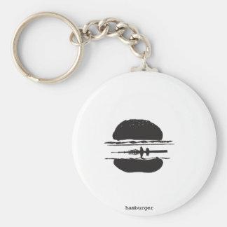 La hamburguesa llavero redondo tipo pin