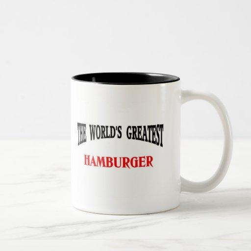La hamburguesa más grande taza de dos tonos