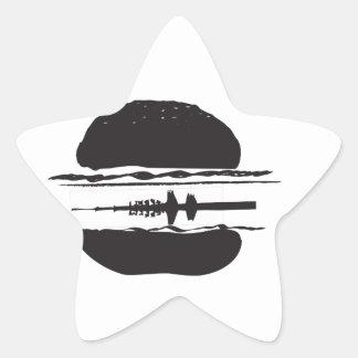 La hamburguesa pegatina en forma de estrella