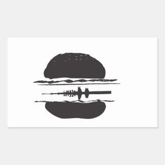 La hamburguesa pegatina rectangular