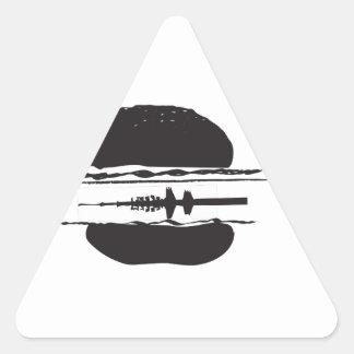 La hamburguesa pegatina triangular
