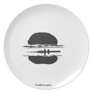 La hamburguesa plato para fiesta