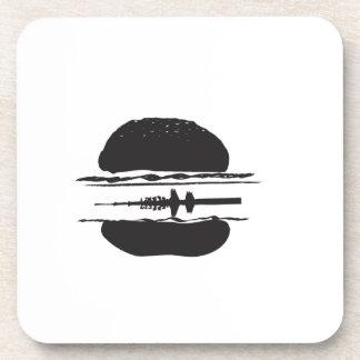 La hamburguesa posavasos de bebida