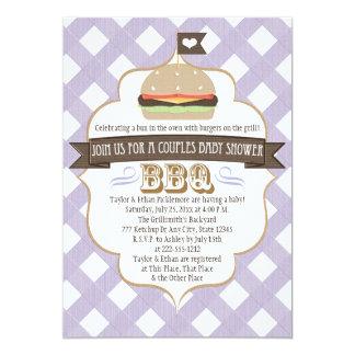 La hamburguesa púrpura junta invitaciones de la invitación 12,7 x 17,8 cm
