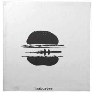 La hamburguesa servilletas de papel