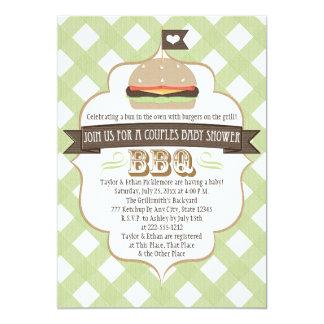 La hamburguesa verde junta invitaciones de la invitaciones personalizada
