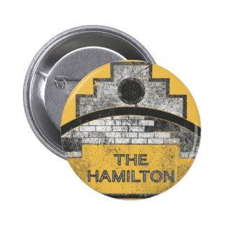 la Hamilton Pin Redondo De 2 Pulgadas