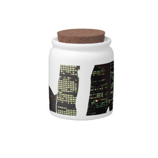 LA hands skyline Candy Jar