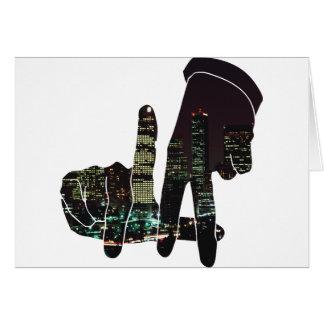 LA hands skyline Card