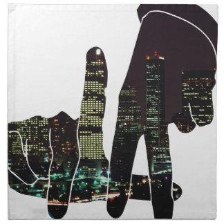 LA hands skyline Cloth Napkin