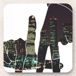 LA hands skyline Coaster