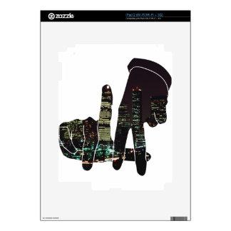 LA hands skyline Decal For iPad 2