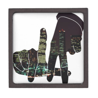 LA hands skyline Gift Box