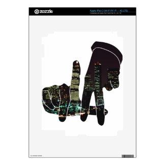 LA hands skyline iPad 3 Skin