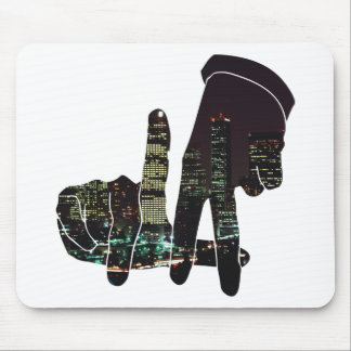 LA hands skyline Mouse Pad