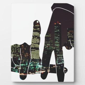 LA hands skyline Plaque