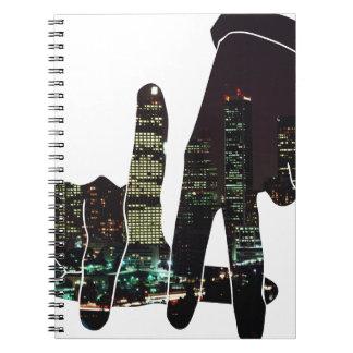 LA hands skyline Spiral Notebook