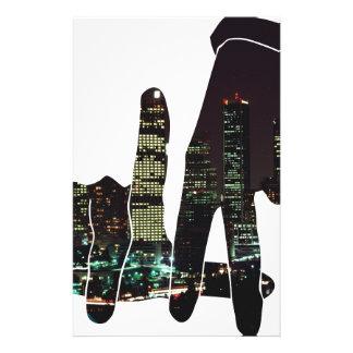 LA hands skyline Stationery