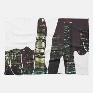 LA hands skyline Towel