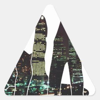 LA hands skyline Triangle Sticker