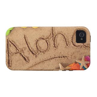 La hawaiana de la palabra escrita en una playa are iPhone 4 carcasa