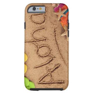 La hawaiana de la palabra escrita en una playa funda resistente iPhone 6