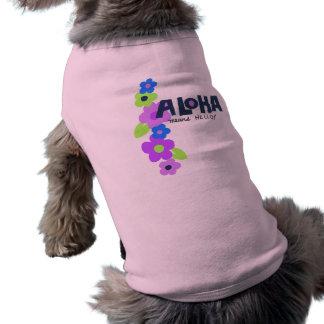 La hawaiana significa hola la camiseta del perrito camiseta sin mangas para perro