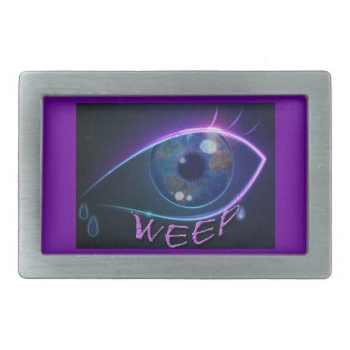 La hebilla de correa LLORA el logotipo del ojo Hebillas Cinturón Rectangulares