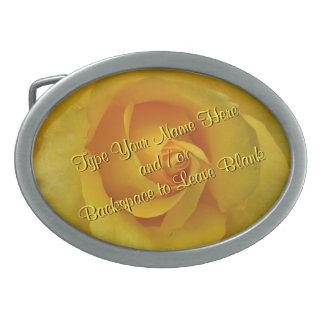 La hebilla del cinturón color de rosa personaliza  hebillas de cinturón ovales